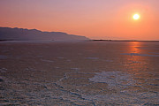 Dry Lake Photos - Smoky sunset in the Salt Flats by Johnny Adolphson