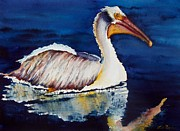 Pelican Painting Originals - Smooth as Glass by Lil Taylor