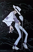 Michael Jackson Metal Prints - Smooth Criminal V2 Metal Print by Tu-Kwon Thomas