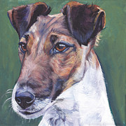 Smooth Painting Prints - Smooth Fox Terrier Print by Lee Ann Shepard