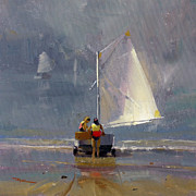 Brushwork Framed Prints - Smooth Sailing Framed Print by Richard Robinson