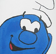 1980s Paintings - Smurf Painting by Kyler Waldron