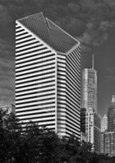 Chicago Skyline Bw Metal Prints - Smurfit-Stone Chicago - now Crain Communications Building Metal Print by Christine Till