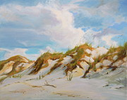 Sand Dunes Paintings - Smyrna Dunes by Laura Bates