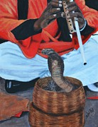 Playing Painting Originals - Snake Charmer by Shirl Theis