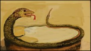 Reptiles Drawings - Snake Illustration by Eric  Schiabor