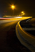 Night Scenes Photos - Snake Lights by Debra and Dave Vanderlaan