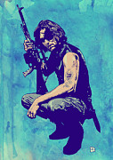Science Drawings Framed Prints - Snake Plissken Framed Print by Giuseppe Cristiano