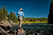 Fly Fishing Prints - Snake River Cast Print by Ron White