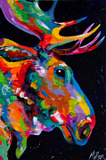 Colorado Artist Tracy Miller Posters - Snake River Moose Poster by Tracy Miller