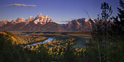 Grand Tetons Framed Prints - Snake River Panorama Framed Print by Andrew Soundarajan