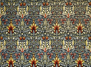 Fabric Art Tapestries - Textiles Posters - Snakeshead Poster by William Morris