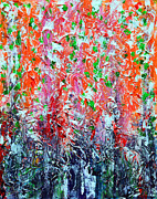 America Paintings - Snapdragons by Alys Caviness-Gober