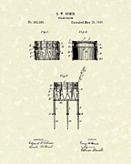 Snare Posters - Snare Drum 1886 Patent Art Poster by Prior Art Design