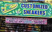 Signs - Sneaker Store Sign  by Robert Ullmann