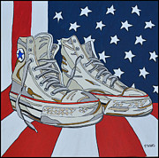 Converse Paintings - Sneakers 9 by Mike Stanko
