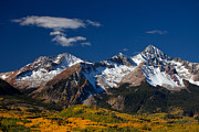 Autumn Scenes Metal Prints - Sneffels Clearing  Metal Print by Darren  White