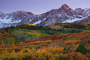 Autumn Prints Prints - Sneffels Sunset Print by Darren  White