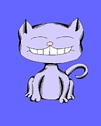 Match Drawings - Snickerdoodle Cat Laughing by Pet Serrano