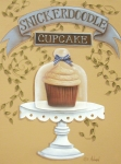 Primitive Art Prints - Snickerdoodle Cupcake Print by Catherine Holman