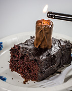 Candle Lit Digital Art - Snickering cake by Randy Turnbow