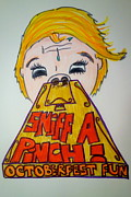 German Ale Drawings - Sniff A Pinch by Jacqueline Athmann