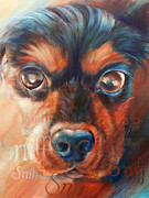 Spaniel Puppy Paintings - Sniff by Vanessa Bates