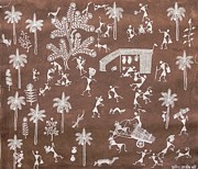 Indian Tribal Art Paintings - Snm 03 by Sunita Sadashiv Mashe