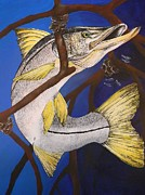 Lisa Bentley Art - Snook Painting by Lisa Bentley