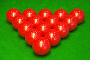 Recreational Pool Prints - Snooker balls Print by Guang Ho Zhu