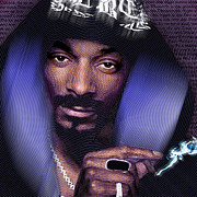America Mixed Media Originals - Snoop and Lyrics by Tony Rubino