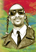 Worldwide Art Prints - Snoop Dogg art sketch poster Print by Kim Wang