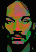 Head Shot Digital Art Prints - Snoop Dogg Print by Byron Fli Walker