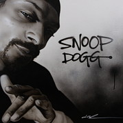 Musician Portrait Painting Originals - Snoop Dogg by Christian Chapman Art