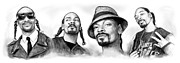 Worldwide Art Prints - Snoop Dogg group art drawing sketch poster 30x85cm Print by Kim Wang