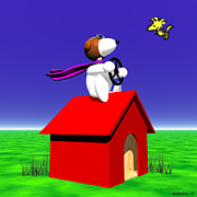 Walter Oliver Neal - Snoopy and Woodstock In 3D
