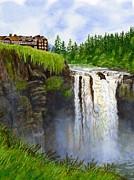 Sharon Freeman - Snoqualmie Falls Vertical Design