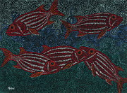 Hawaiian Fish Paintings - Snorkeling 3 by Linda Peterson