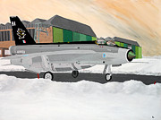 Raf Paintings - Snow and Lightning by Jonathan Laverick