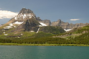 Larry Moloney Prints - Snow and Water in Glacier National Park Print by Larry Moloney