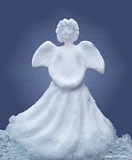 Handcrafted Art - Snow Angel by Barbara McMahon