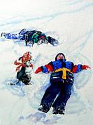 Snow Angels Print by Hanne Lore Koehler
