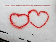 Platonic Prints - Snow Art from Heart Print by Sonali Gangane