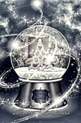 Jewels Digital Art Posters - Snow Ball Poster by Mo T