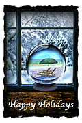 Snow Globe Framed Prints - Snow Bird 2 Framed Print by Walt Foegelle