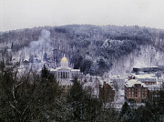 Vermont Towns Prints - Snow Blankets Montpelier Print by Carol M Highsmith