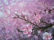 Cherry Blossoms Painting Originals - Snow Blossom by Arlissa Vaughn