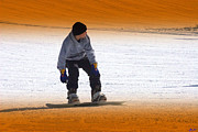 Young Man Photo Originals - Snow Boarding by C A Soto Aguirre