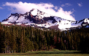 Joe Klune Metal Prints - Snow capped Broken top mountain Metal Print by Joe Klune