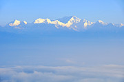 Snow Cap Photos - Snow capped Himalayas  by Judith Katz